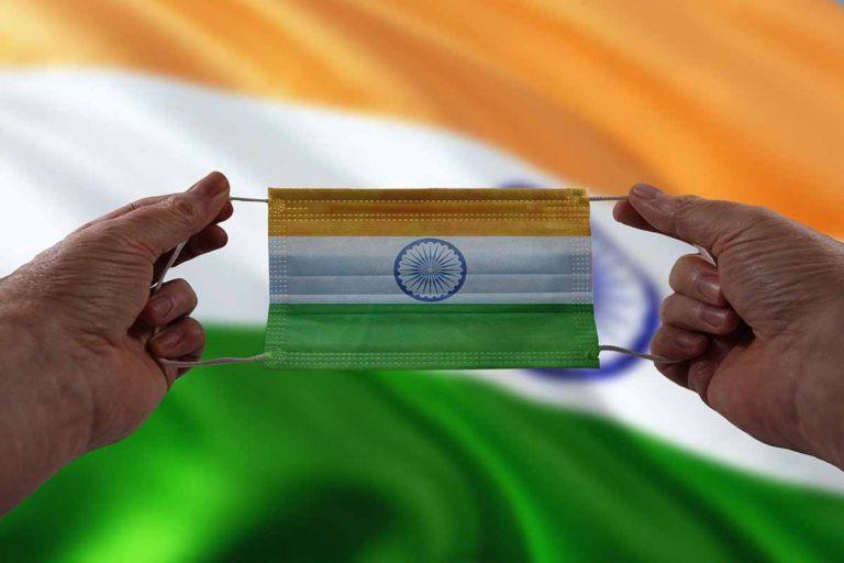Covid mask India flag colors